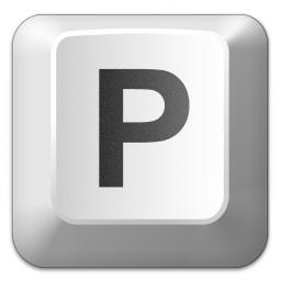 Tecla P de un teclado