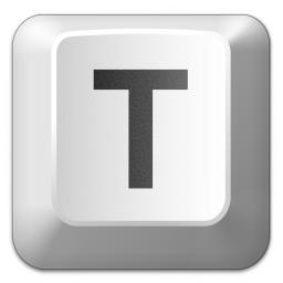 Tecla T de un teclado